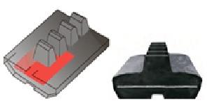 Резиновая гусеница с неметаллическим сердечникомРезиновая гусеница взаимозаменяемого типа, Каскад запчасти и комплектующие для гусеничной техники