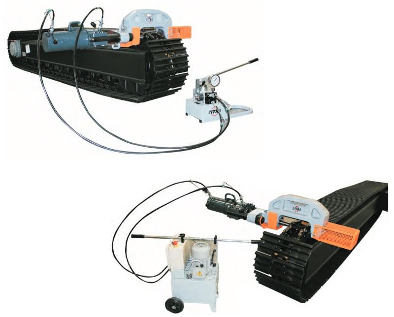 Гидравлические прессы ITR – эффективное оборудование для обслуживания гусеничных цепей